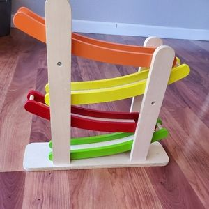 Wood colorful ball ramp excellent new no balls